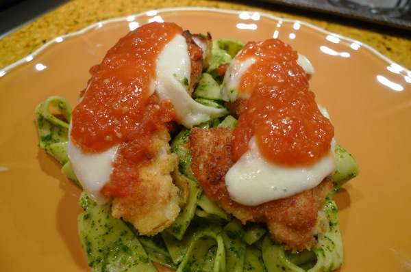 Chicken Parm with Broccoli Rabe Pesto1
