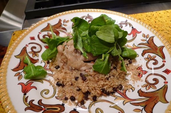 garlic-chicken-with-pancetta-and-couscous-with-pinenuts-and-currants