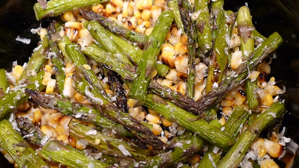 Grilled Corn and Asparagus