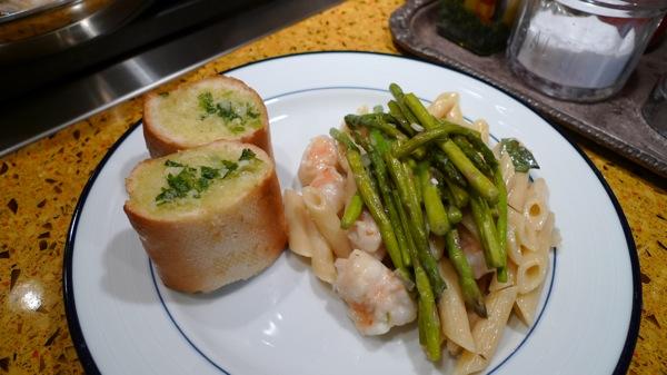 Asparagus and Shrimp Pasta 2