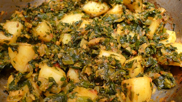 Spinach and Potatoes