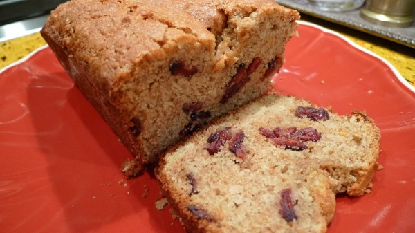 Apple Cranberry Bread with Orange Zest