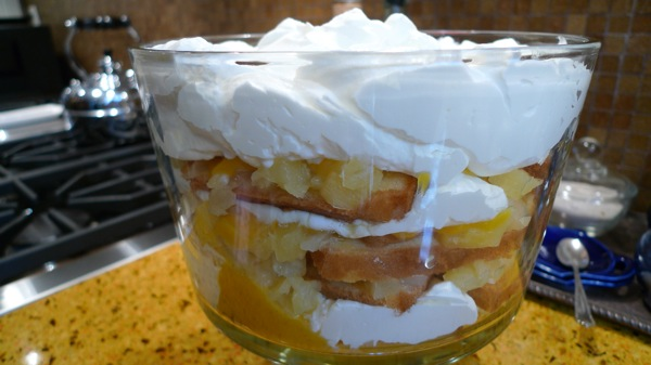 Mango Curd and Pineapple Trifle