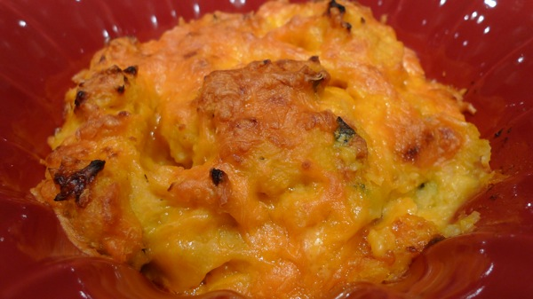 ... Roasted and Mashed Butternut Squash and Potatoes with Cheddar Cheese