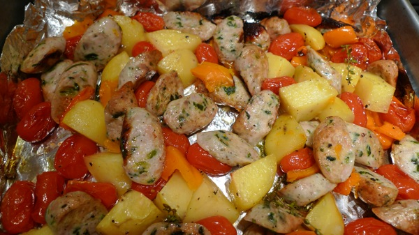 Sausage and Peppers Bake1