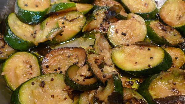 Sauteed Zucchini with Mustard Seeds
