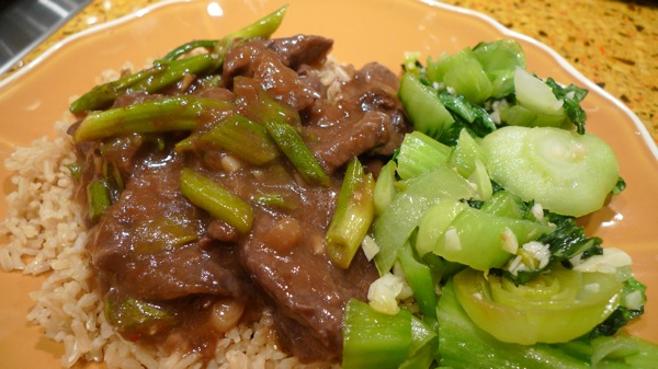 Orange Beef with Bok Choy