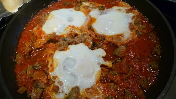 Sausage and Eggs in Marinara Sauce1
