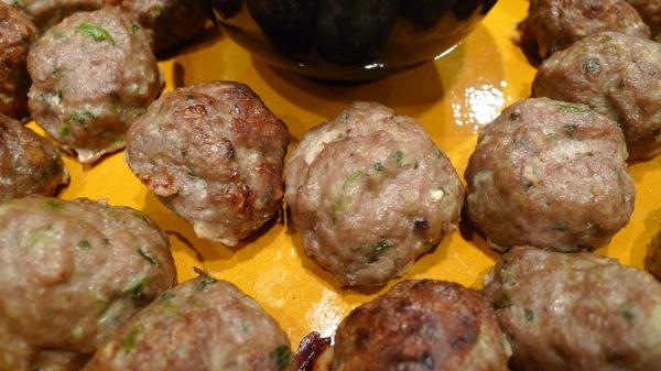 Indian Meatballs with Cilantro Cream