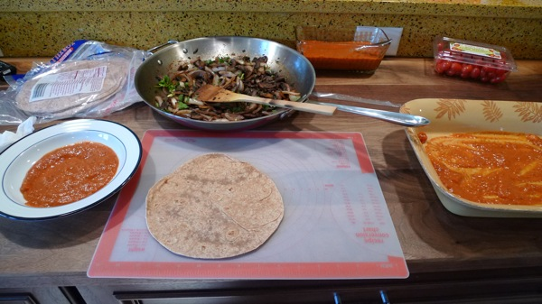 Mushroom and Red Chile Enchilada5