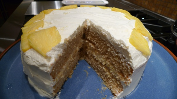Pineapple and Fresh Cream Cake