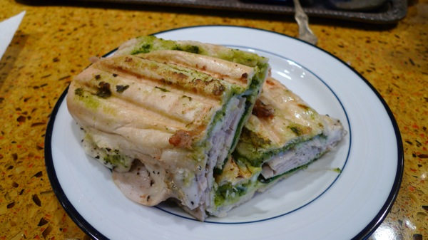 Turkey and Pesto Panini