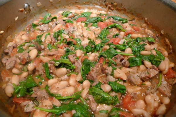 Chicken Sausage and Cannellini Bean Stew1