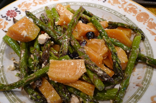 Golden Beets and Aspargus Salads