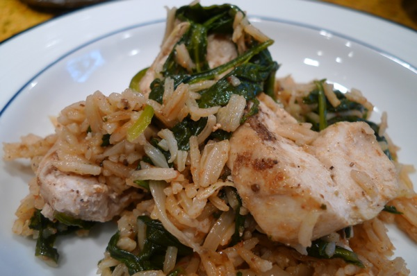 Sharing Plate » Rice with Chicken and Spinach