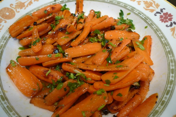Grilled Carrot Salad with Orange Dressing1