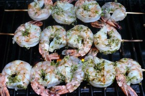 Grilled Garlic Cilantro Shrimp1