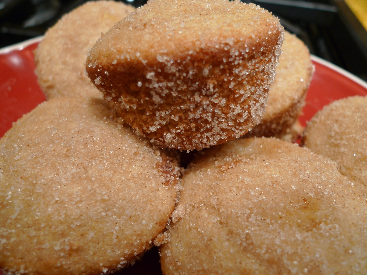 Nectarine Almond Duffins