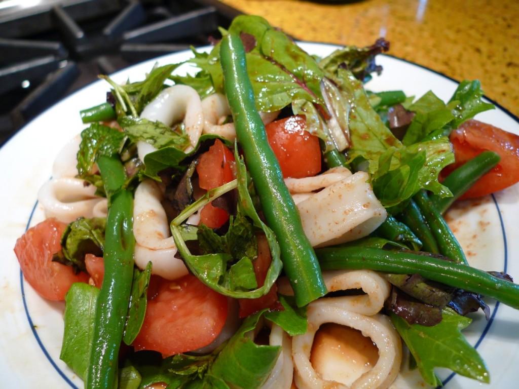 Sharing Plate » Spicy Calamari Salad