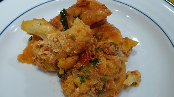 Cauliflower and Potatoes with Ajwain