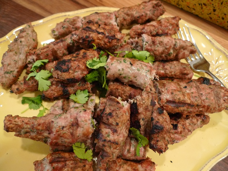 Ginger and Mint Seekh Kebab1