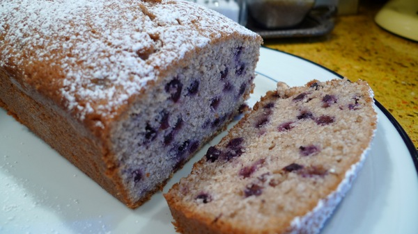 Wild Blueberry and Lemon Cake