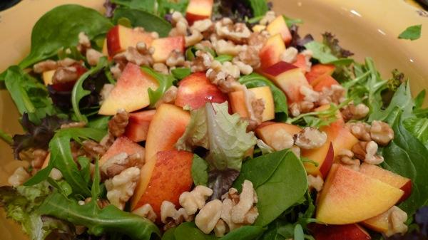 Nectarine and Walnut Salad