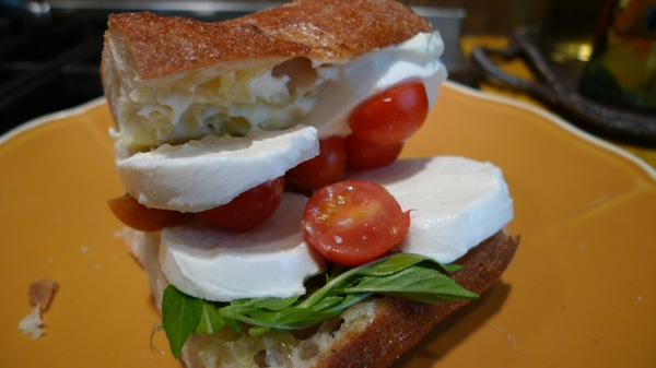 Tomato and Mozzarells Sandwich