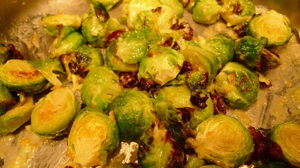 Roasted Brussels Sprouts with Orange Cream