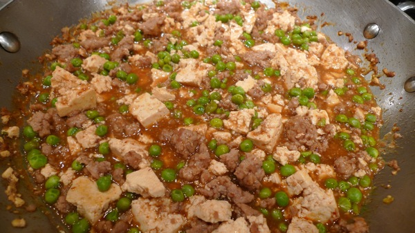 Ma Po Tofu with Peas