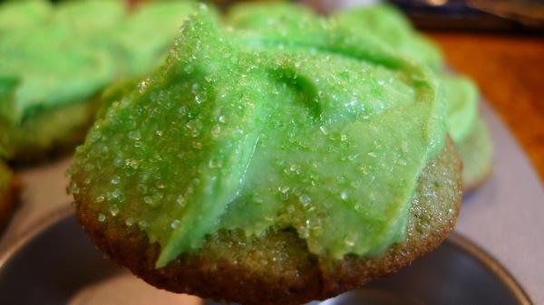 Mini Green Cupcakes