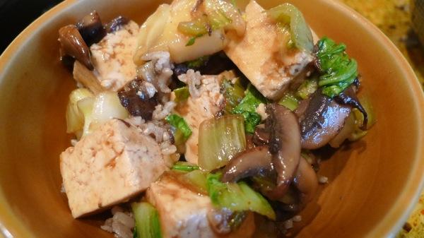 Tofu and Bok Choy Stirfry