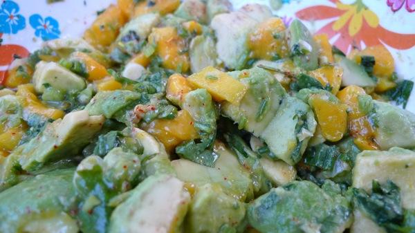 Avocado and Mango Guacamole