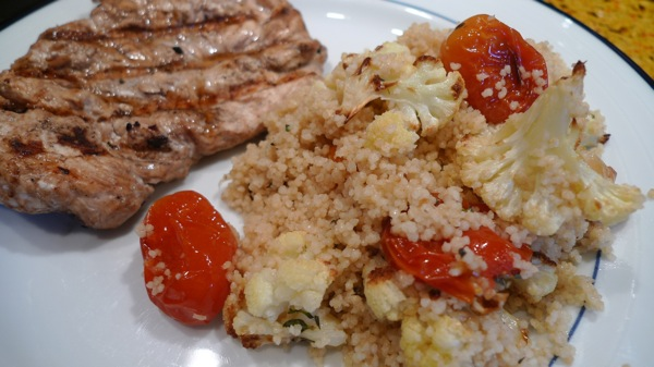 Couscous with Roasted Cauliflower