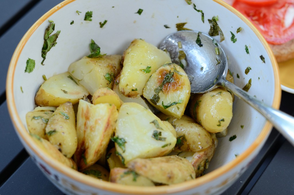 Grilled Potato Salad with Cilantro