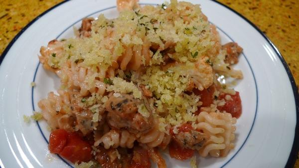 Roasted Cauliflower and Sausage