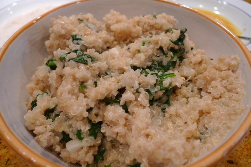 Spinach Quinoa Risotto