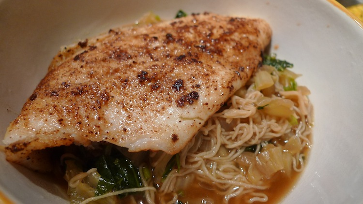 Sauteed Flounder with Tofu Noodles