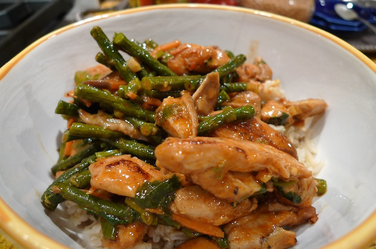 Chicken Red Curry with Green Beans