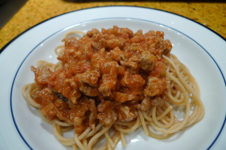 Turkey Meat Sauce with Zucchini