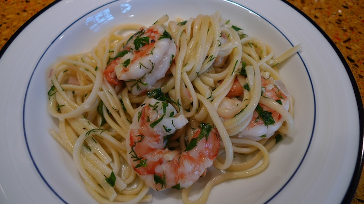 Linguini with Shrimp Scampi