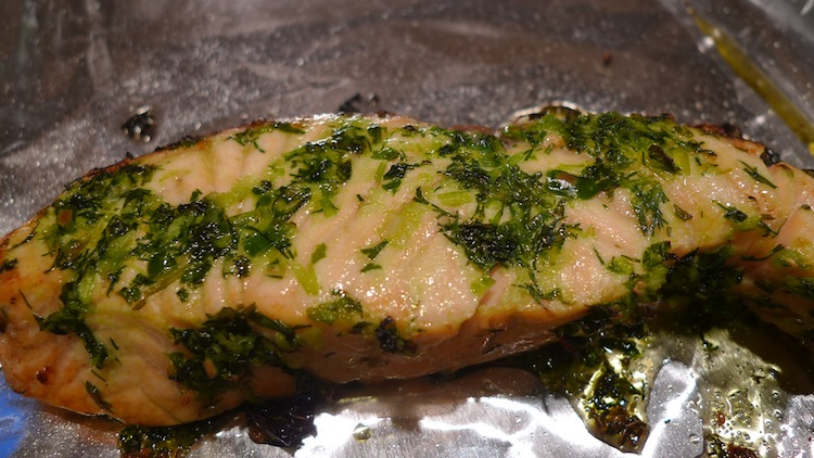 Roasted Herbed Salmon