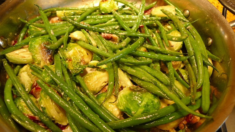 Roasted Brussels Sprouts with Haricot Vert