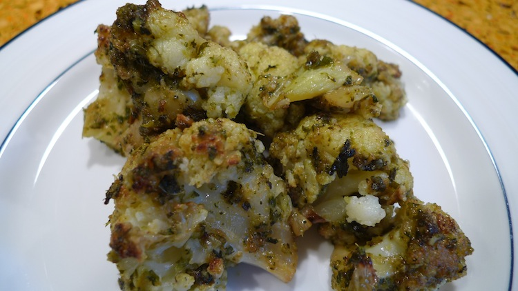 Cauliflower with Cilantro and Mint