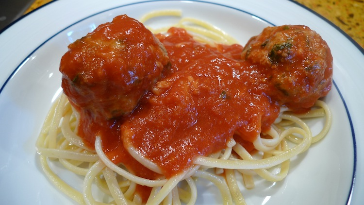Meatballs with Broccoli Rabe