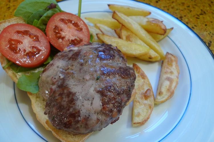 Gorgozola and Pancetta Burgers