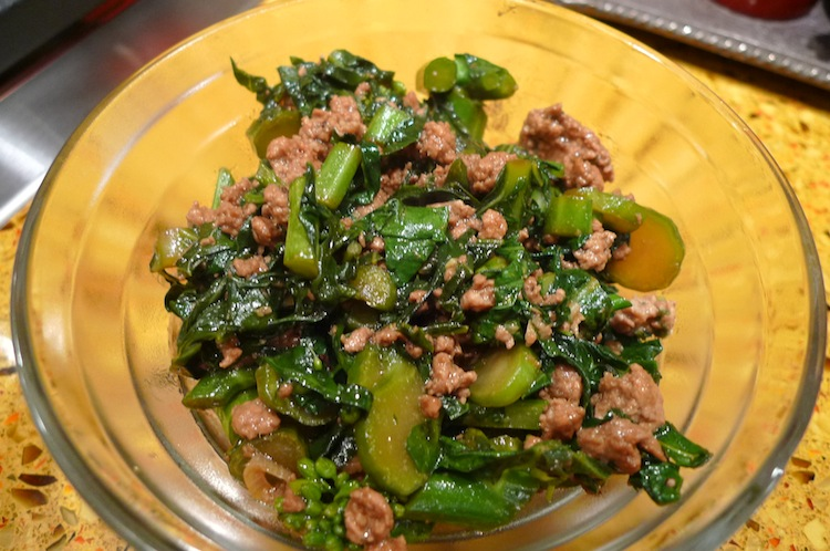 Chinese Broccoli with Ground Turkey