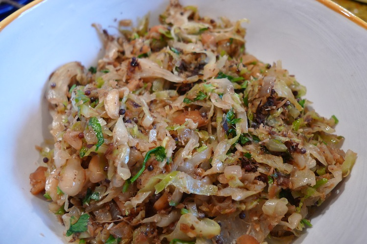 how to prepare shredded cabbage