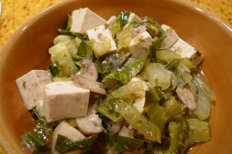 Tofu with Green Curry