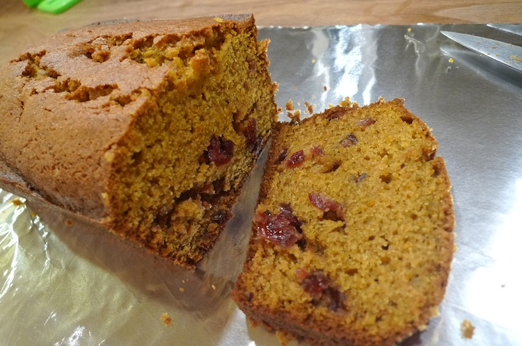 Spiced Orange Cranberry Pumpkin Bread